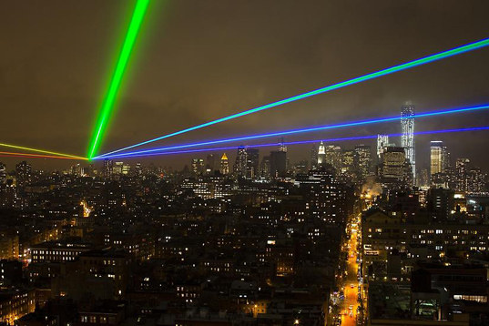 Global Rainbow, Yvette Mattern, New York events, disaster relief, hurricane sandy victims, laser installations, low energy art, green events