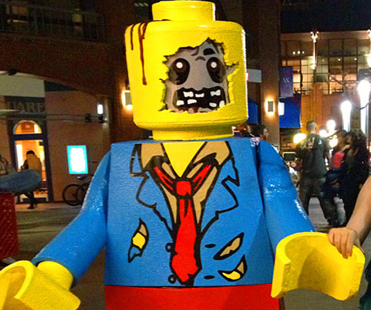 Luminous jellyfish costume is handcrafted from everyday items lego mini figure zombie brack lee inhabitat halloween costume contest winners solutioingenieria Gallery