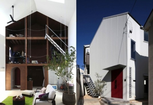 ON Design, House With an Empty Lot, Japan, urban design, daylighting, skylights, sustainable design, Fujisawa, Japanese Design, eco-design, sustainable design, compact footprint, tiny homes