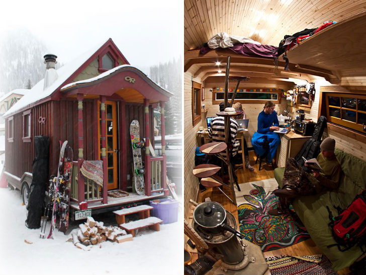 Mobile Tiny House Transports 5 Skiers Boarders In Search of