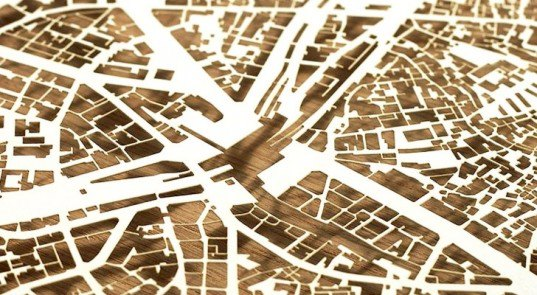 Chauntelle Trinh, Eckard Buscher, Metropolitan Cityscapes, paper art, urban design, green design, sustainable design, eco art, green art, papercut art, paper art, maps, city maps, map art