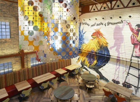 BuckleyGrayYeoman, Nando's, Dundee, Scotland, Shipping Container, restaurant, historic building, industrial, cargotecture, Portuguese, chicken