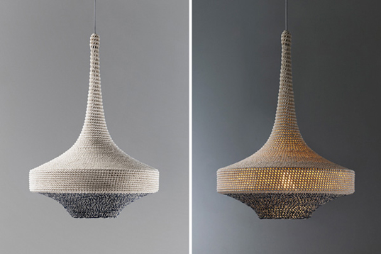 Naomi Pauls Handcrafted OMI Pendant Lamps are Crocheted from