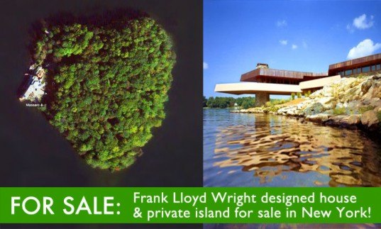 A.K. Chahroudi, AHAlife, eco design, frank lloyd wright, Frank lloyd Wright home for sale, Frank Lloyd Wright Island, Frank Lloyd Wright new york, green design, Joseph Massarro Frank Lloyd Wright Island Home, Massaro House, Petra Island, Putnam County, Putnam County Homes, sustainable design