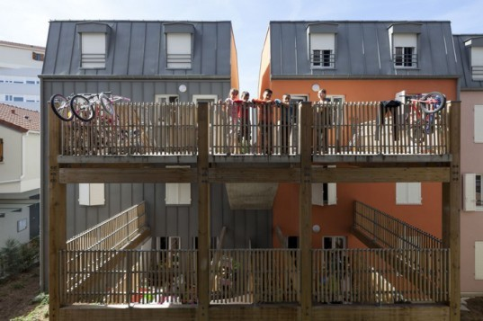 Urban Collage housing development, Maison Edouard Francois, energy efficient housing, French architecture, social housing, urban redevelopment, green architecture, passive houses