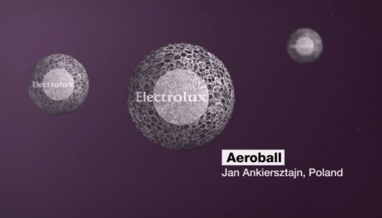 the aeroball, hover, purify air, jan ankiersztjan, electrolux design lab, ball, floating, luminescent