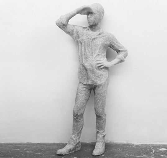 david arsham, glass, shattered, upcycle, resin, figures, sculpture