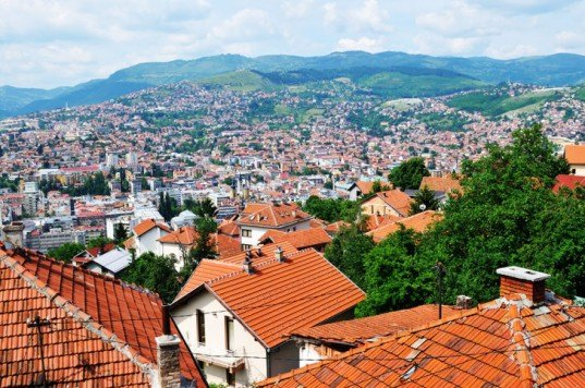Sarajevo, bosnia, houses, tiled roof, humanitarian action, renewable energy solutions, sustainable competition, green design, energy efficiency, cheap electricity