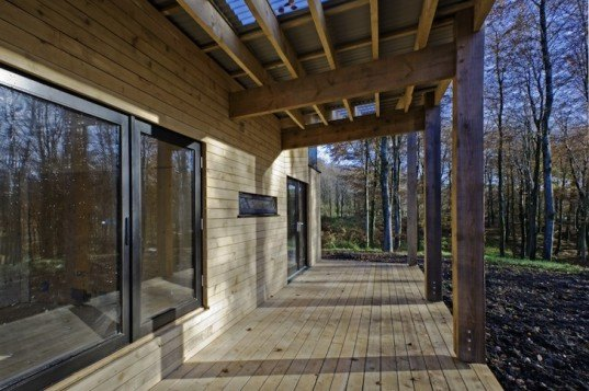 Invisible Studio, Dorset, England, Hooke Park, Architecture Association, locally-sourced timber, sustainable materials, green design, sustainable design, eco-design, green design, green timber, passivehaus, insulation