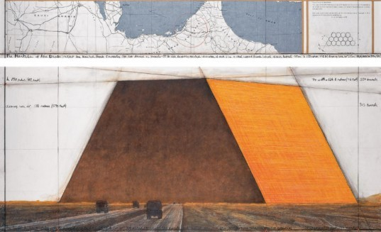 christo, abu dhabi, the mastaba, oil barrel sculpture, conceptual art, worlds largest sculpture, worlds most expensive sculpture