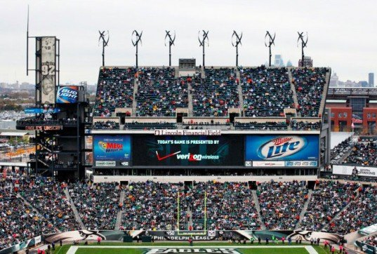 Philadelphia Eagles, NFL, UGE, wind turbines, vertical axis, renewable energy, football, solar panels, energy consumption