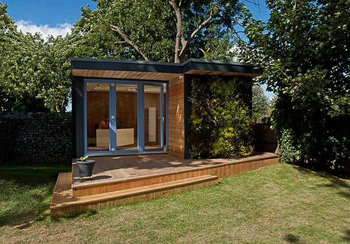 Garden shed office Cheap Tetra Shed Modern Modular Office For The Garden