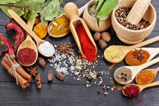 Herbs for flavored oil, herbs, spices, collection of spices