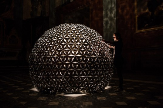 lotus dome, lille, france, studio roosegaarde, flower, smart foil, installation, interactive