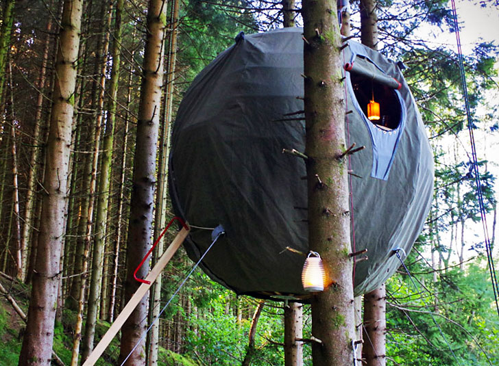 top 6 suspended tree tent designs luminair spherical tent « Inhabitat u2013 Green Design Innovation Architecture Green Building & top 6 suspended tree tent designs luminair spherical tent ...
