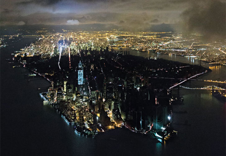 NY Magazine cover photo of a blacked out Lower Manhattan - Image by Iwan Baan