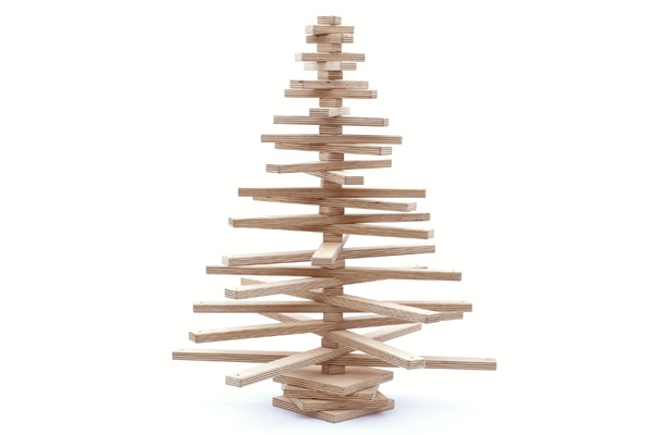 Jubiltree Wooden Christmas Tree Inhabitat Green Design