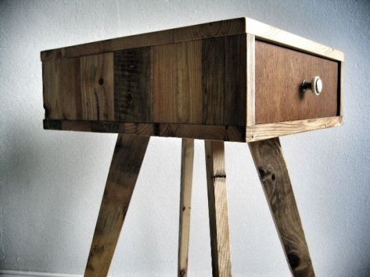 Produktwerft, recycled shopping pallet table, Sascha Akkermann, recycled wood,