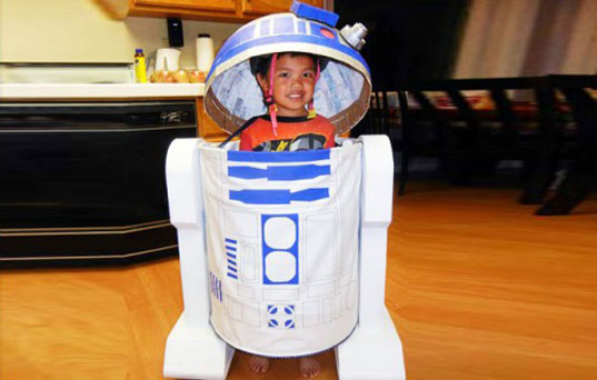 Homemade R2D2 Halloween Costume by Jimmy Fendors, R2D2 costume, Star Wars