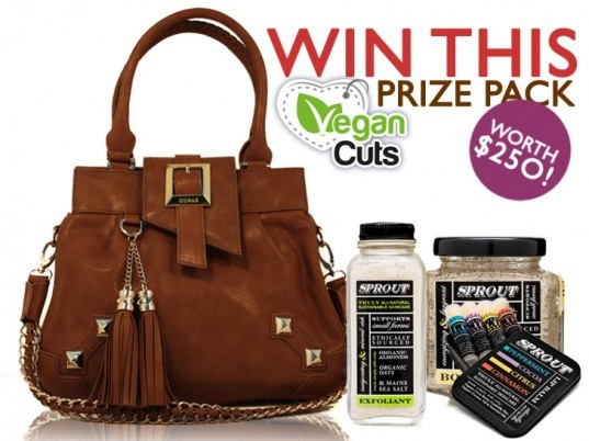 "Vegan Cuts Prize Pack, vegan cuts giveaway, vegan cuts, ""Sweetheart"" tote bag, GUNAS"
