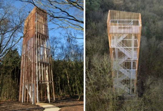 River Vecht, Ateliereen, Dalfsen municipality, platform, timber, viewing tower, observation tower, ultraslim viewing tower, nature, green design, sustainable design, eco-design