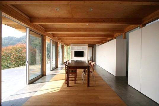 B House, Kumamoto, Japan, Anderson Anderson Architecture, off-grid, prefabricated architecture, renewable energy, green design, sustainable design, eco-design, green roof, geothermal, solar power, timber frame, renewable energy, daylighting