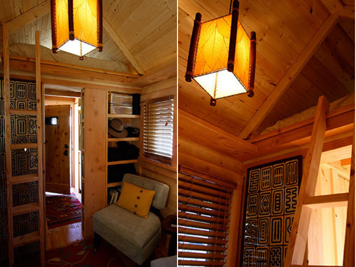 Four lights tiny house plans for Tiny house with main floor bedroom