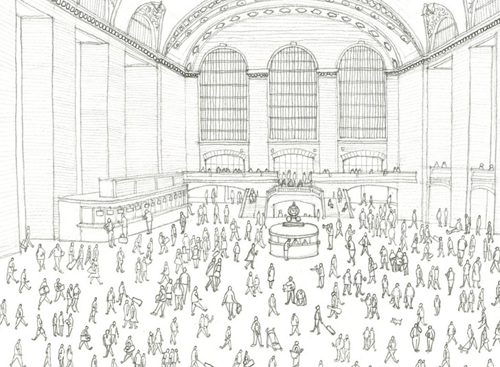 green design, eco design, sustainable design, Grand Central Terminal, Architectural League of New York, New York Transit Museum, Moleskine, Grand Central Centennial, Grand Central drawing competition