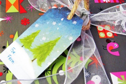 How To Recycle This Year's Holiday Cards Into Next Year's Gift Tags