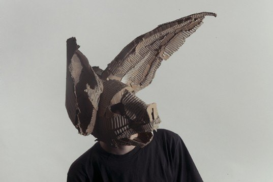 Jozef Mrva Creates Spooky Shamanic Masks with Recycled Cardboard