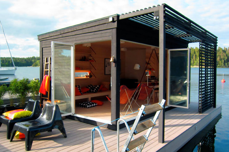 Modern Kenjo Cabin Is A Solar Powered Floating Room For A