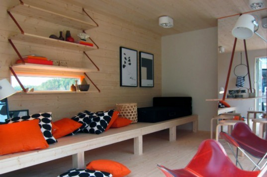 Kenjo Floating Guest House, floating house, prefab, prefab cabin, sweden, prefab floating cabin