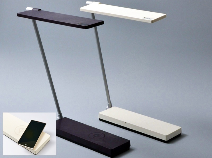 Konica Minolta S Low Energy Desk Lamp Wirelessly Charges Your Smartphone