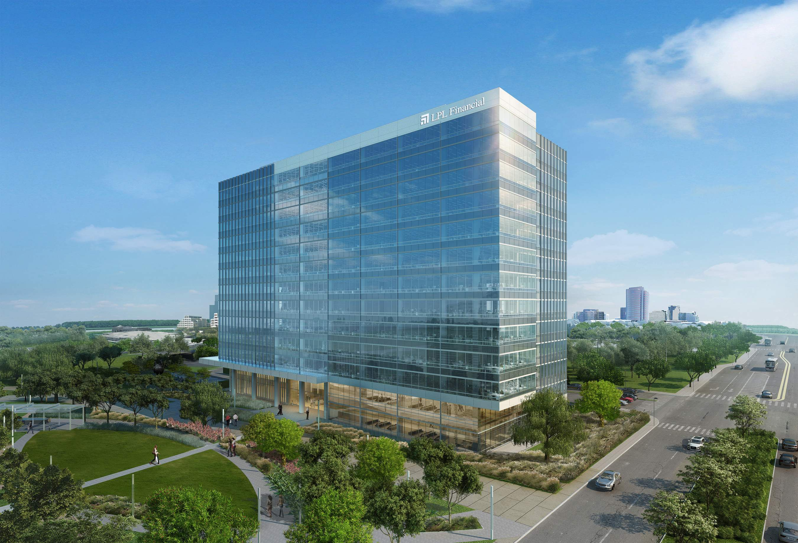 Hines real estate breaks ground on nation 39 s largest carbon for Building an estate