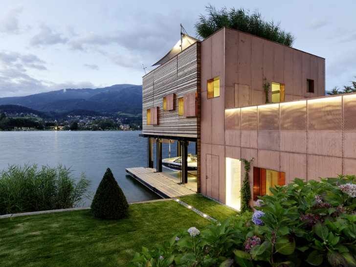 Energy Efficient Boat House Rises Like A Reed From Austria