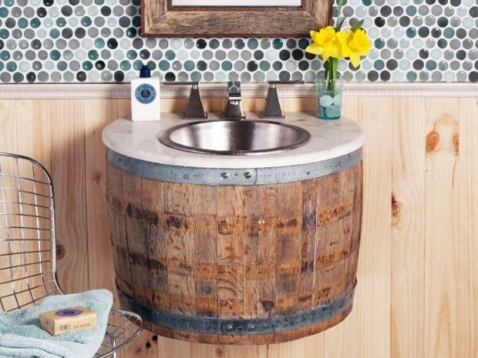Wine Barrels, Native Trails, Artisan, Bathrooms, Furnishings Fixtures, San Luis Obispo, Reclaimed Materials, French oak barrels, Decorative Plumbing and Hardware Association, Bordeaux, Chardonnay, Cabernet, vanities, mirrors