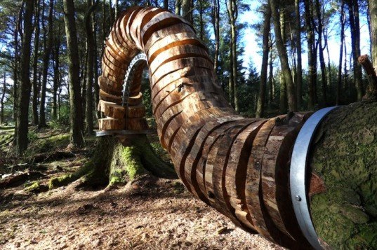 Pendle Trail, witches, witch trails, art, environmental art, salvaged wood, Philippe Handford, sustainable design, eco-design, green design, UK, eco art, timber