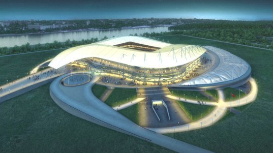 green design, eco design, sustainable design, Populous, Rostov Stadium, FIFA World Cup, 2018 FIFA, sustainable stadium, Kurgan burial mounds