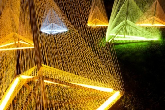 Sébastien Preschoux, nuit blanche, light sculpture, green art, sustainable artwork, installation art, glowing artwork,