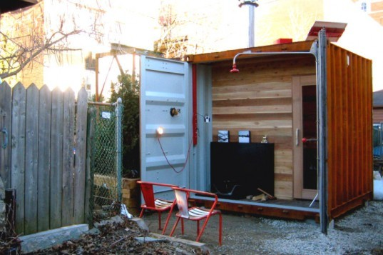 Self Sufficient Shipping Container Sauna Box Will Get You