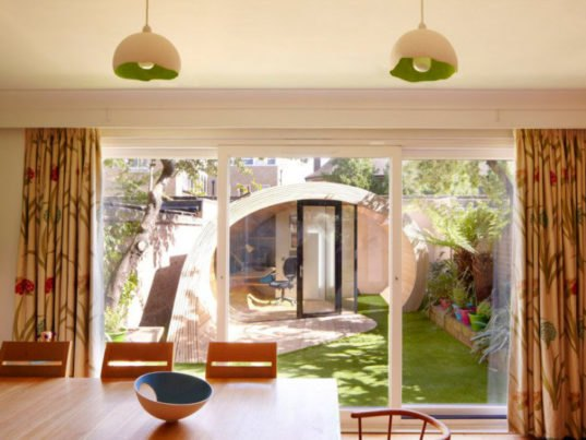 Timber shoffice is a naturally daylit garden shed office for Shed office combo