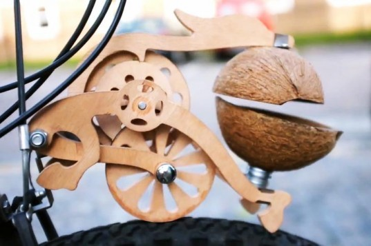 trotify, original content london, horse, clop, bicycle, wood, laser cut, coconut