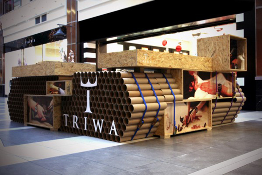 Tank Shaped TRIWA Pop Up Store In Poland Is Made From 900