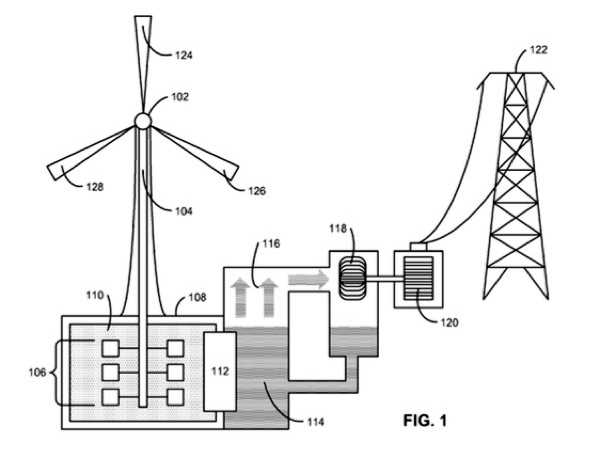 apple files patent for wind turbine that can produce