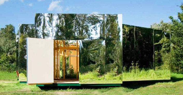 The Archive: Stunning Mirrored Art Studio Melts Into the Landscape