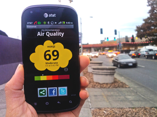 CitiSense, portable Portable Air Pollution Monitoring Device, University of California, San Diego, air quality, pollution levels, city pollutants, monitoring devices