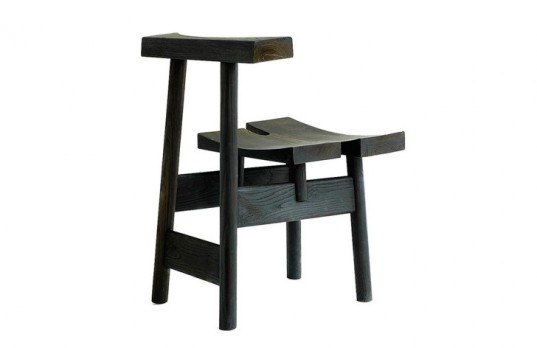 Thermotreated wood, chair chestnut, Sedes-is., japanese torii, wood chair, burnt wood chair, burnt wood furniture