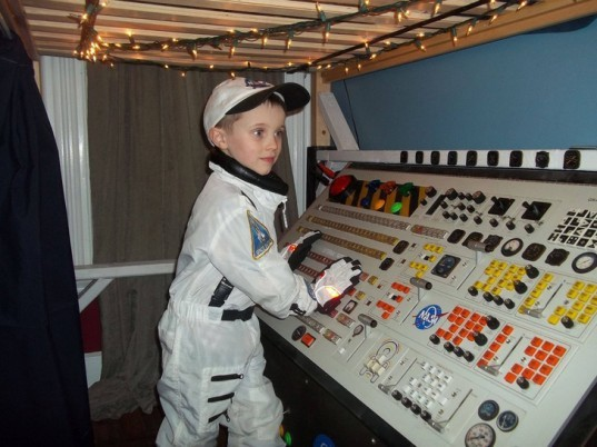 jeremiah gorman, space station, scrap, electronics, son, birthday present
