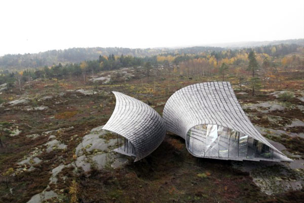 Torsten Ottesjöu0027s Spectacular Leaf Shaped Structures Are Inspired By The  Swedish Landscape