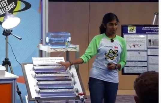 deepika kurup, water purification system, discovery education 3m young scientist challenge, devloping world